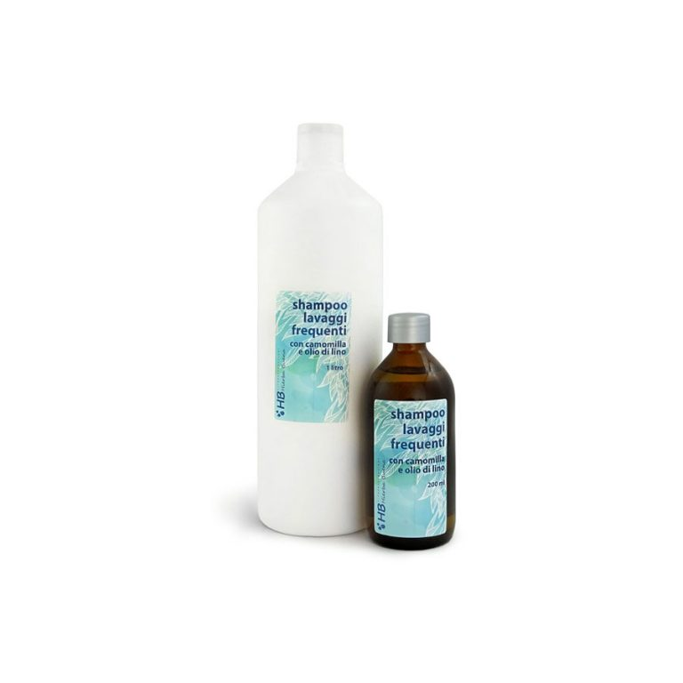 Shampoo for frequent use, with chamomile and flax seed oil